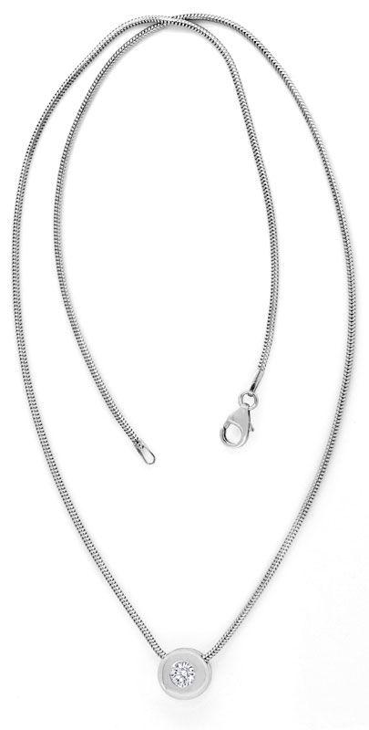 Foto 4, Diamantkollier Diamant Zarge Schlangen Goldkette Luxus!, S9456