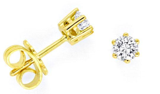 Foto 1, Brillant Ohrstecker Diamant Ohrstecker, Gelbgold Luxus!, S9457