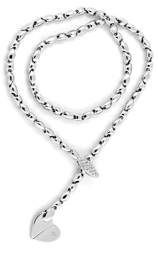 Foto 4, Piaget Juliette Diamantarmband Diamantkollier Weissgold, S9458