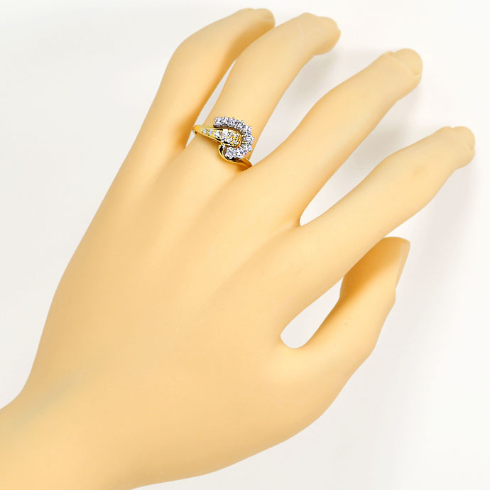 Foto 4, Design Diamantring mit 0,47ct Diamanten und Brillianten, S9476