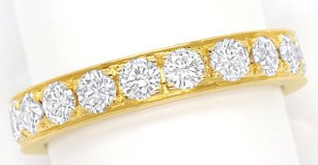 Foto 1, Vollmemory Diamantring mit 1,60ct Brillianten, 18K Gold, S9478