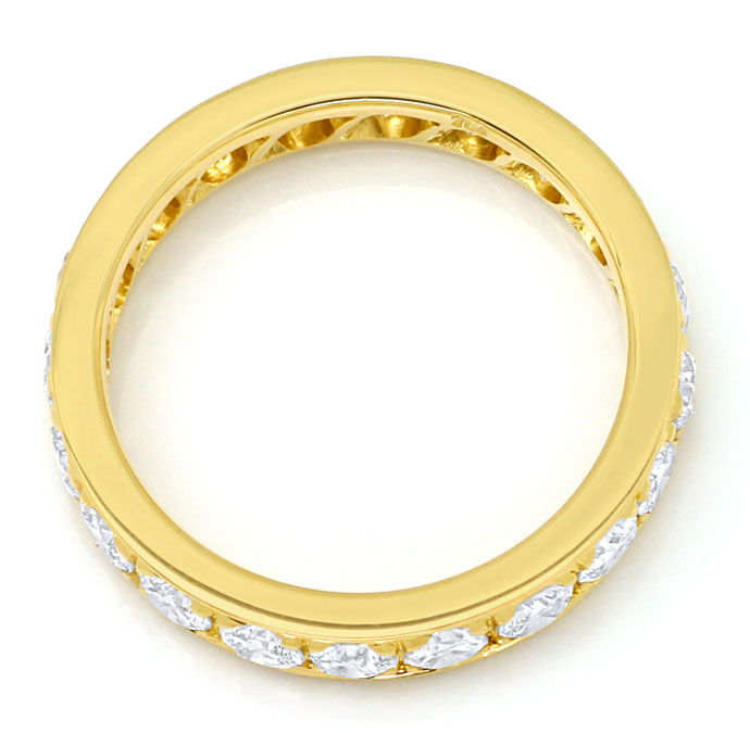 Foto 3, Vollmemory Diamantring mit 1,60ct Brillianten, 18K Gold, S9478