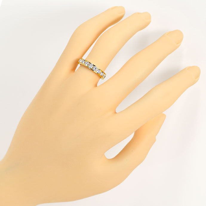 Foto 4, Vollmemory Diamantring mit 1,60ct Brillianten, 18K Gold, S9478