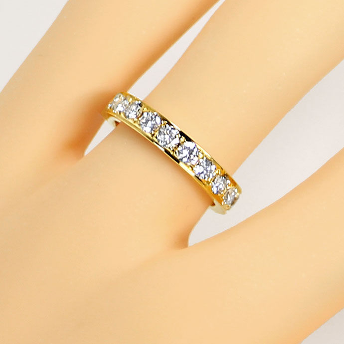 Foto 5, Vollmemory Diamantring mit 1,60ct Brillianten, 18K Gold, S9478