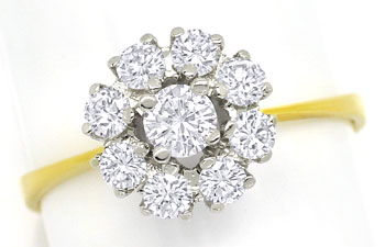 Foto 1, Diamantenring mit 0,71ct Brillanten in 18K Bicolor Gold, S9479