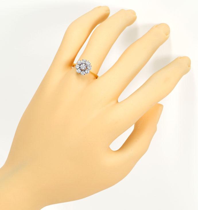 Foto 4, Diamantenring mit 0,71ct Brillanten in 18K Bicolor Gold, S9479