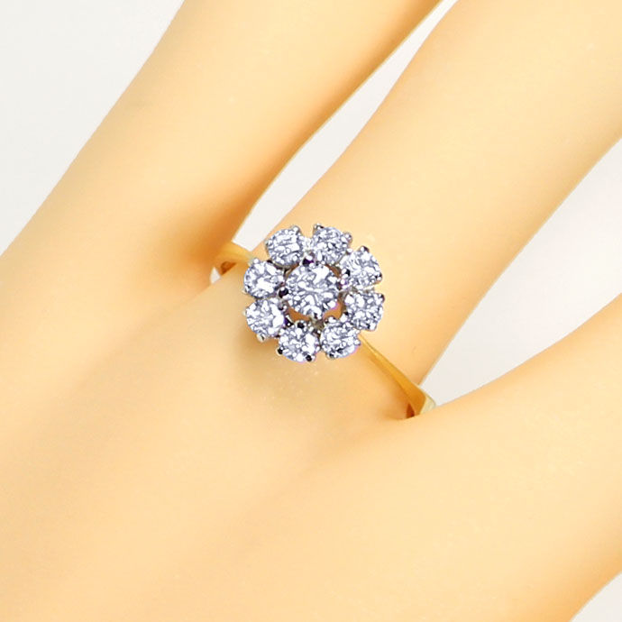 Foto 5, Diamantenring mit 0,71ct Brillanten in 18K Bicolor Gold, S9479