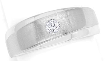 Foto 1, Design-Diamantbandring mit 0,12ct Brillant in Weissgold, S9492