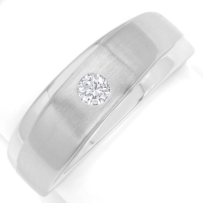 Foto 2, Design-Diamantbandring mit 0,12ct Brillant in Weissgold, S9492