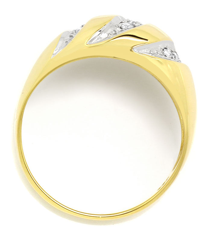 Foto 3, Dekorativer Diamantbandring mit 0,11ct Diamanten in 14K, S9498