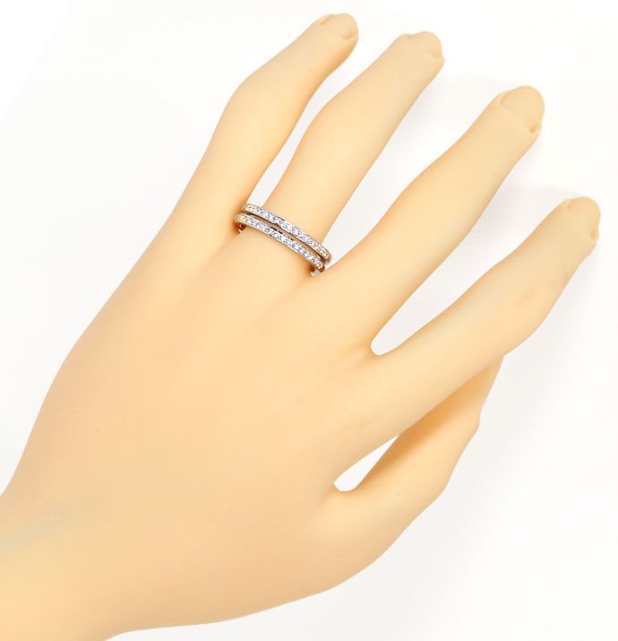 Foto 4 - Diamantring Allianz Ring mit 30 Brillanten in Weissgold, S9503