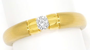 Foto 1, Toller Gold Spann Ring mit 0,20ct River Brillant in 14K, S9540
