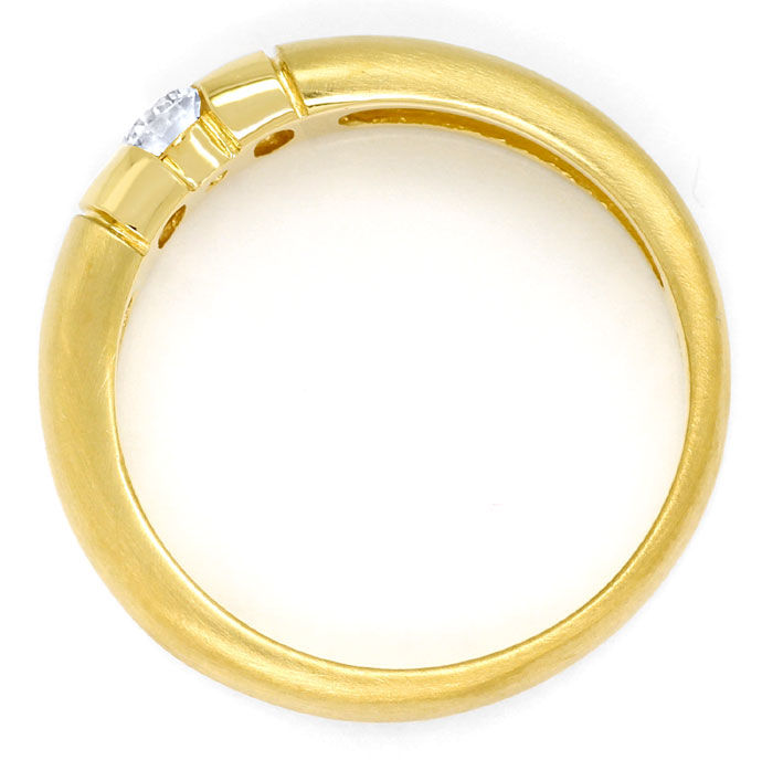 Foto 3, Toller Gold-Spann-Ring mit 0,20ct River Brillant in 14K, S9540