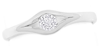 Foto 1 - Diamantring mit 0,14ct River Lupenrein in 585 Weissgold, S9543