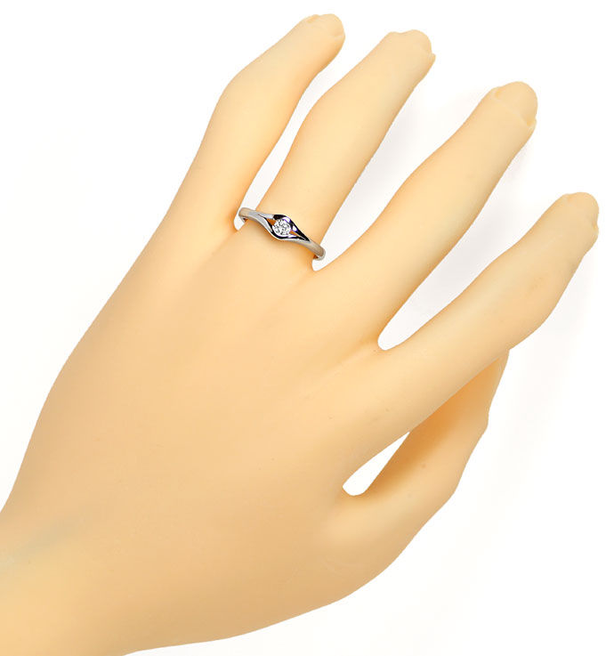 Foto 4 - Diamantring mit 0,14ct River Lupenrein in 585 Weissgold, S9543