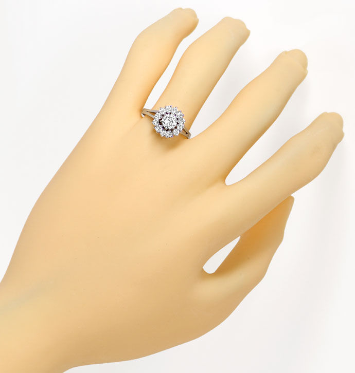 Foto 4 - Diamantring mit 1,13ct River Brillanten in 585 Weißgold, S9554