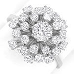Edler Diamantring mit 1,61ct Brillianten, 750 Weissgold