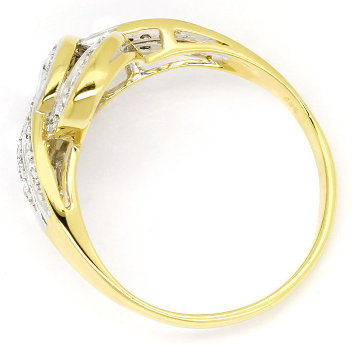Foto 3, Toller Diamantring mit 0,30ct Diamanten in 14K/585 Gold, S9591