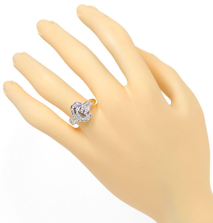 Foto 4, Toller Diamantring mit 0,30ct Diamanten in 14K/585 Gold, S9591