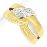zum Artikel Gold Ring mit River Lupenreinen Diamanten in massiv 750, S9634