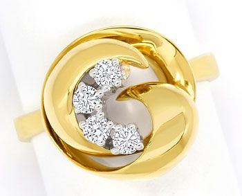 Foto 1 - Goldring Knoten Design 0,3ct Brillanten River lupenrein, S9636