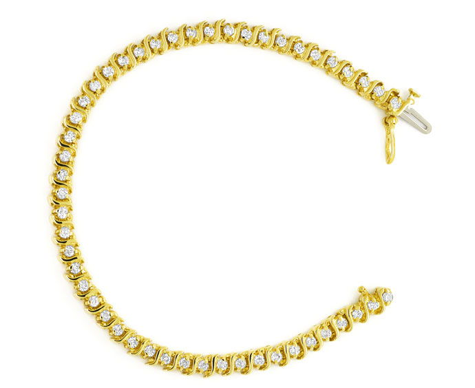 Foto 1 - Luxuriöses Tennisarmband mit 1,72ct Brillanten 14K Gold, S9652