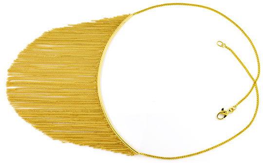 Foto 1, Gold Kollier aus 150 Goldketten 750 Gelbgold Luxus! Neu, S9684