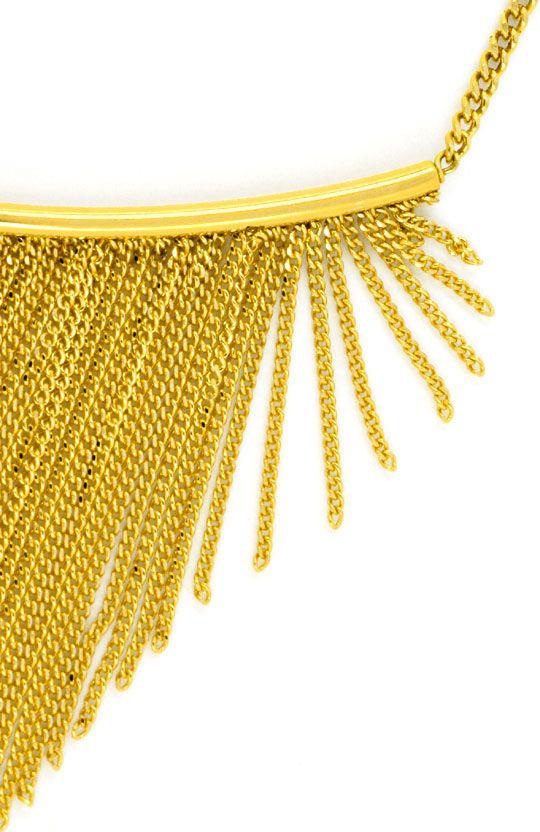 Foto 2, Gold Kollier aus 150 Goldketten 750 Gelbgold Luxus! Neu, S9684