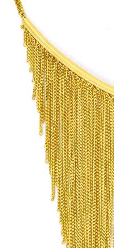 Foto 3, Gold Kollier aus 150 Goldketten 750 Gelbgold Luxus! Neu, S9684