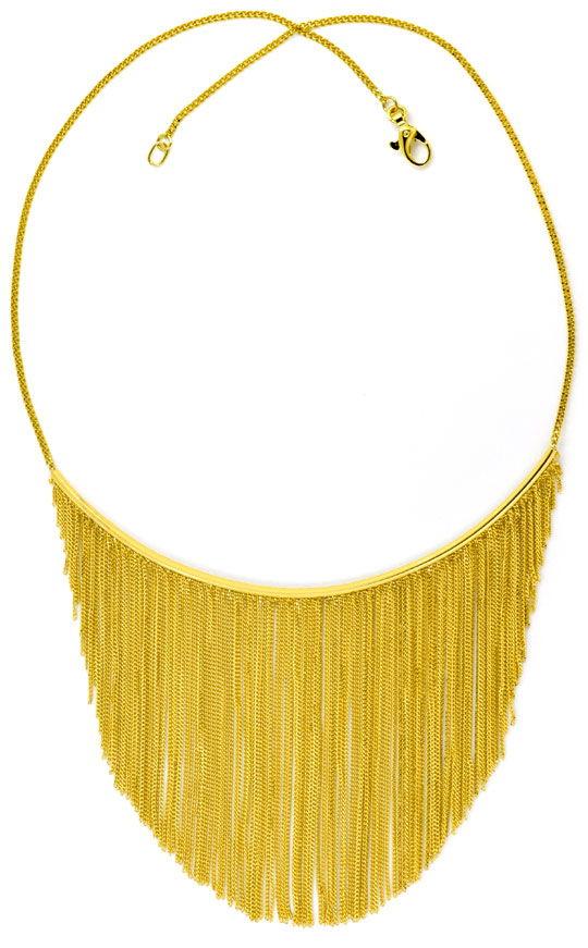 Foto 4, Gold Kollier aus 150 Goldketten 750 Gelbgold Luxus! Neu, S9684