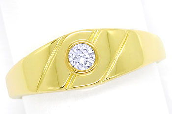 Foto 1, Diamantbandring mit 0,12ct River Brilliant 14K Gelbgold, S9687