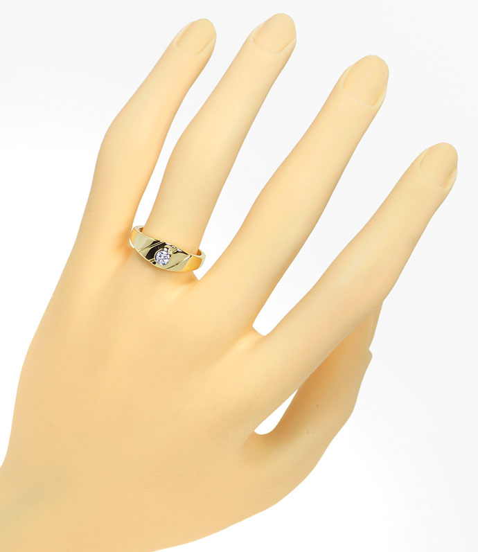 Foto 4, Diamantbandring mit 0,12ct River Brilliant 14K Gelbgold, S9687