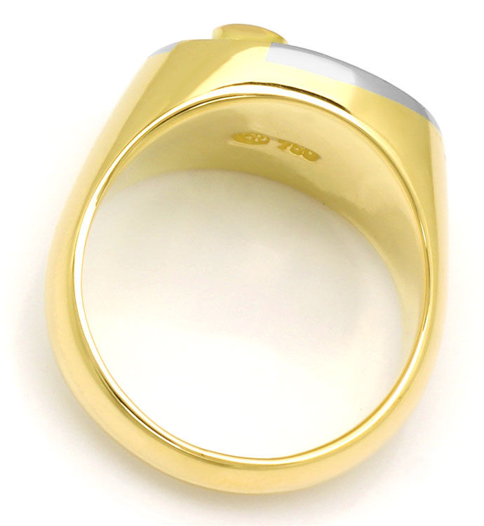 Foto 3 - Massiver Goldring mit 0,45ct Brillianten in 18K Bicolor, S9706