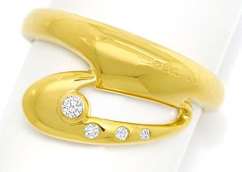Foto 1 - Colani IL SLANICO Design Diamantring 0,07ct in Gelbgold, S9711