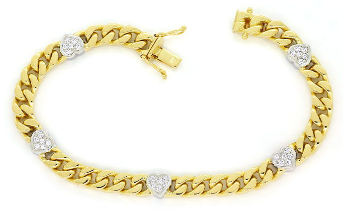 Foto 1, Diamanten Herz Armband mit 0,40ct Brillanten 750er Gold, S9720