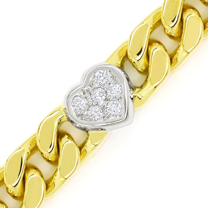 Foto 2, Diamanten Herz Armband mit 0,40ct Brillanten 750er Gold, S9720