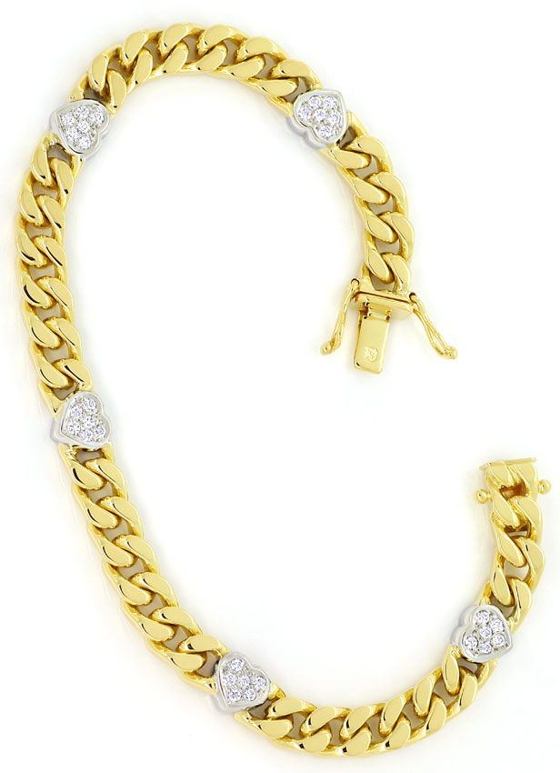 Foto 3, Diamanten Herz Armband mit 0,40ct Brillanten 750er Gold, S9720