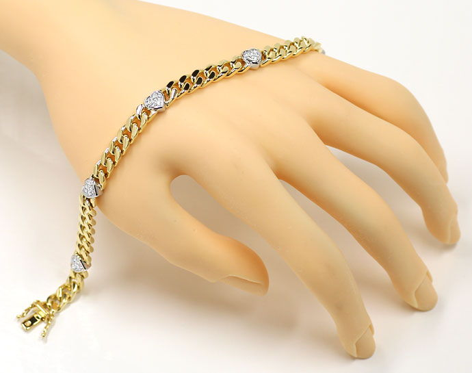 Foto 4 - Diamanten Herz Armband mit 0,40ct Brillanten 750er Gold, S9720