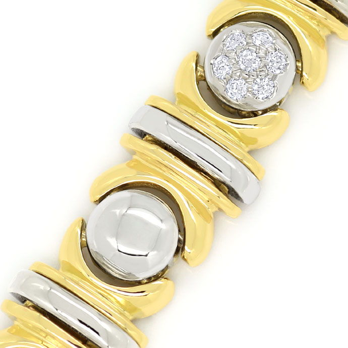 Foto 2, Designer-Diamantenarmband 0,61ct Brillanten 18K Bicolor, S9723