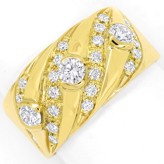 Foto 2, Diamantenbandring mit 0,84ct Brillanten in 18K Gelbgold, S9728