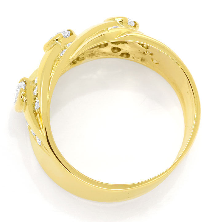 Foto 3, Diamantenbandring mit 0,84ct Brillanten in 18K Gelbgold, S9728
