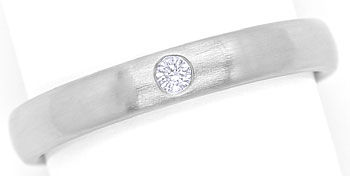 Foto 1 - Diamantring 0,03ct Brilliant in mattiertem 950er Platin, S9732