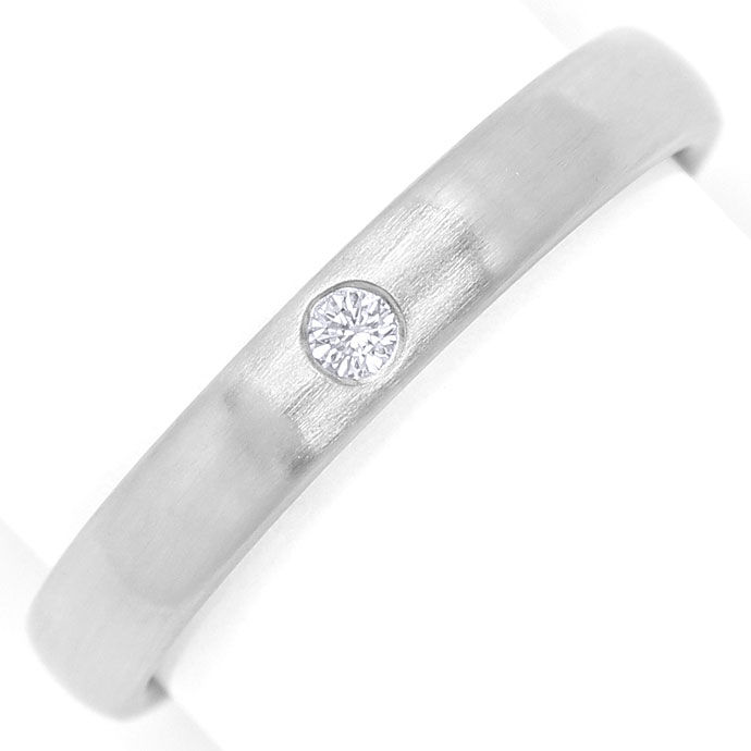 Foto 2 - Diamantring 0,03ct Brilliant in mattiertem 950er Platin, S9732