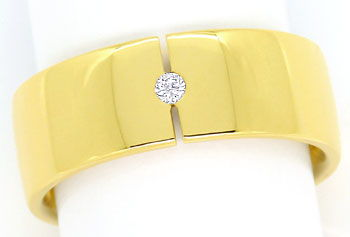 Foto 1 - Diamant Ring Fuge von Niessing 0,03ct Brillant Gelbgold, S9748