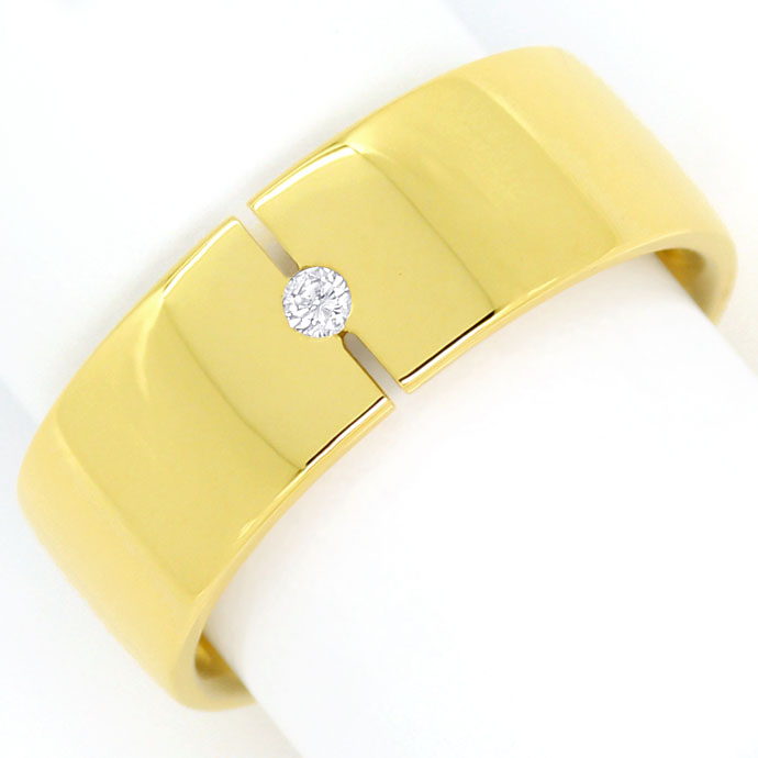 Foto 2 - Diamant Ring Fuge von Niessing 0,03ct Brillant Gelbgold, S9748
