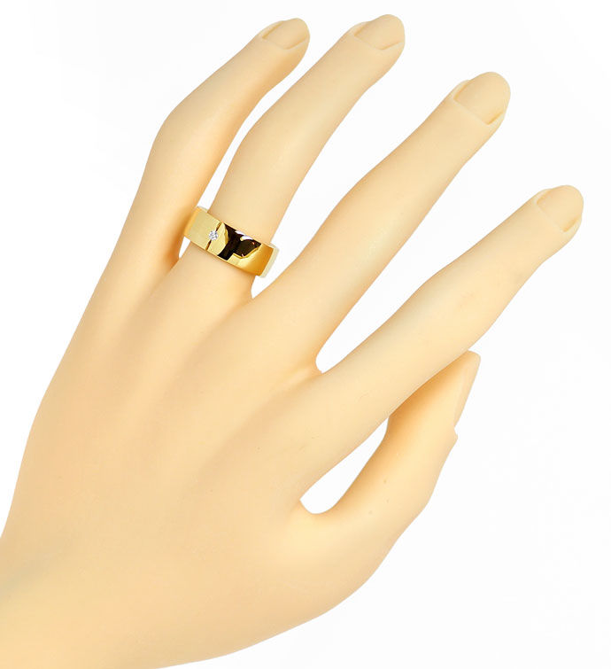 Foto 4 - Diamant Ring Fuge von Niessing 0,03ct Brillant Gelbgold, S9748