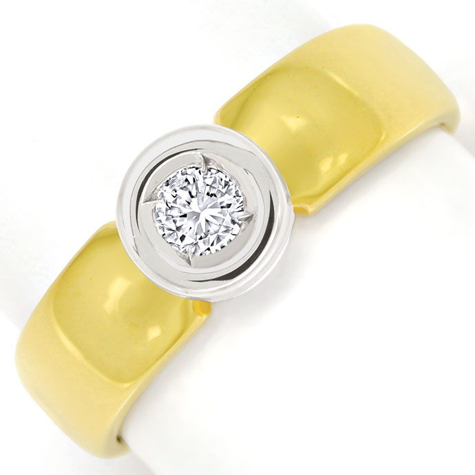 Foto 2 - Zargen Bandring mit 0,29ct River Brillant in 585er Gold, S9770