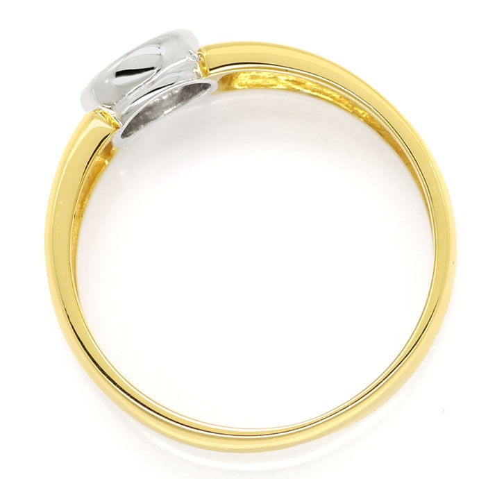 Foto 3, Zargen Bandring mit 0,29ct River Brillant in 585er Gold, S9770