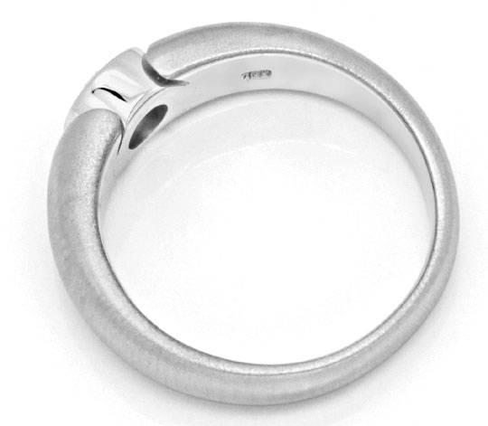 Foto 3, Brillant Ring 0,31 River Lupenrein 18K Weissgold Luxus!, S9783