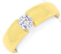 Foto 1, Diamant Spannring 0,48ct DPL Expertise, Gelbgold Luxus!, S9784
